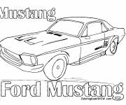 Coloring pages old Ford Mustang