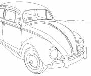 Coloring pages Old ladybird car