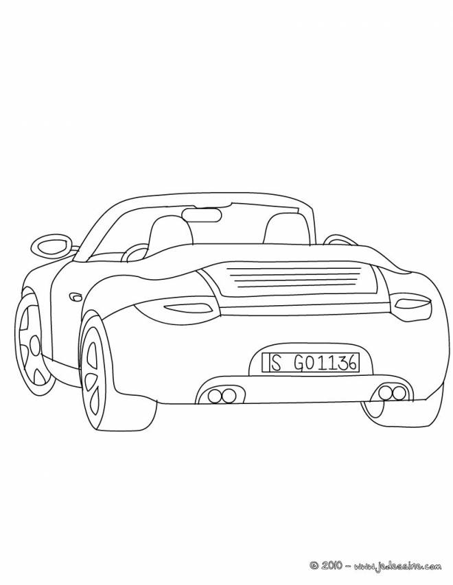 Free coloring and drawings Porche Race Car Coloring page