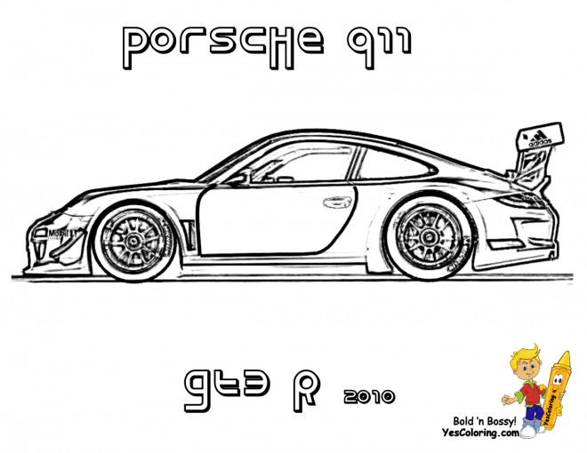 Free coloring and drawings Porsche 911 GTE Coloring page