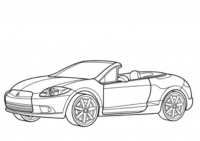 Free coloring and drawings Porsche 911 turbo Coloring page