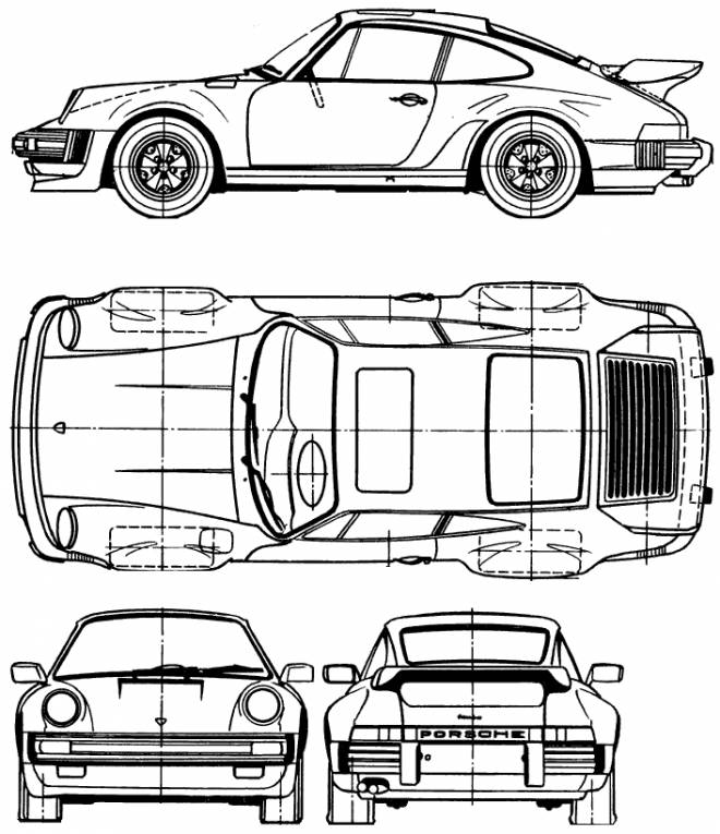 Free coloring and drawings Porsche car model Coloring page