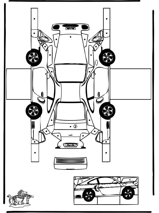 Free coloring and drawings Porsche car online Coloring page