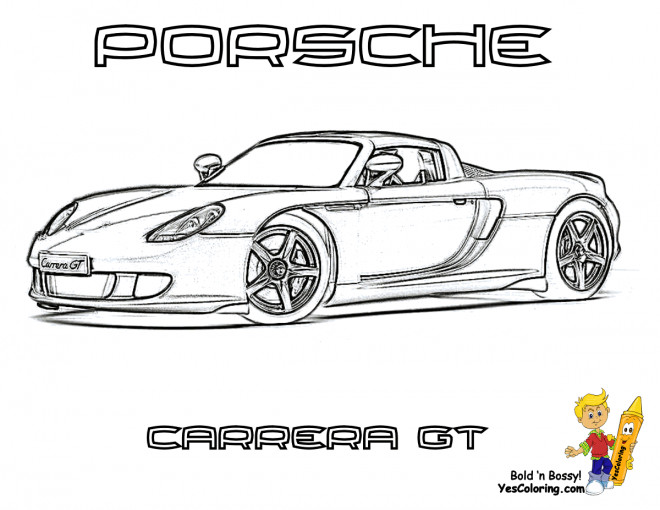 Free coloring and drawings Porsche Carrera GT Coloring page