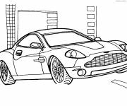 Coloring pages Porsche Cayman easy to color
