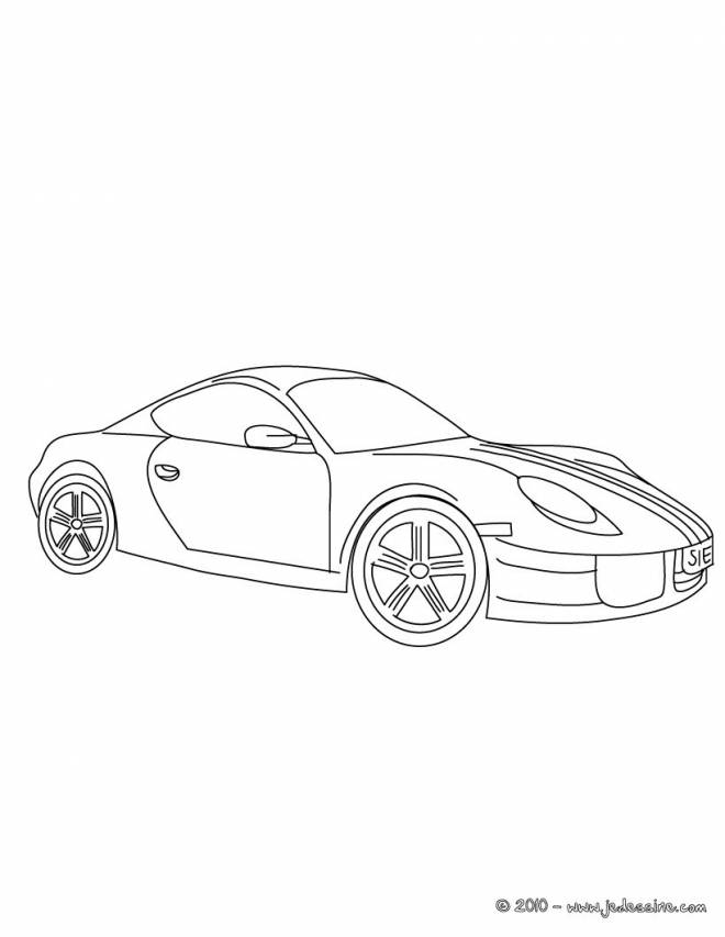 Free coloring and drawings Porsche color Coloring page