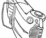 Coloring pages Porsche convertible to be colored
