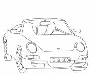 Coloring pages Porsche easy