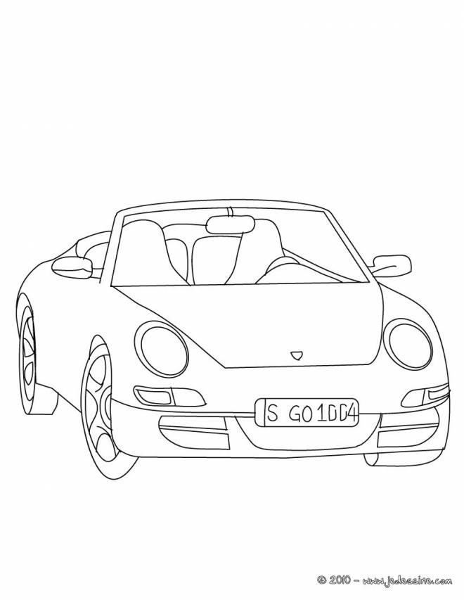 Free coloring and drawings Porsche easy Coloring page