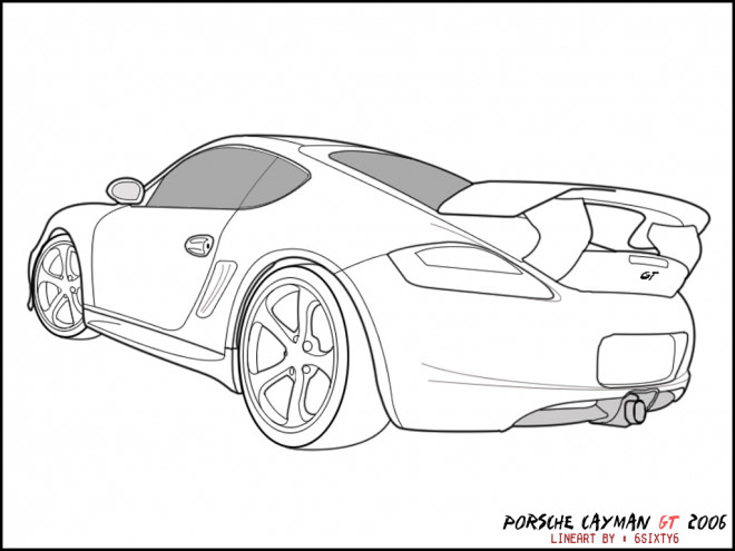 Free coloring and drawings Porsche GT Coloring page