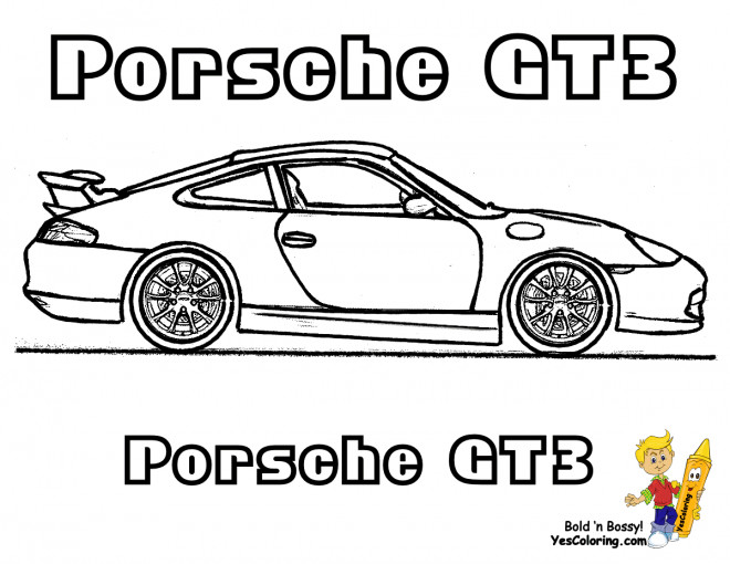Free coloring and drawings Porsche GT3 Coloring page