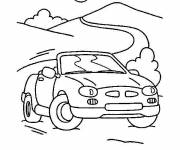 Coloring pages Porsche on the road