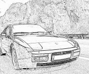 Coloring pages Porsche outdoor