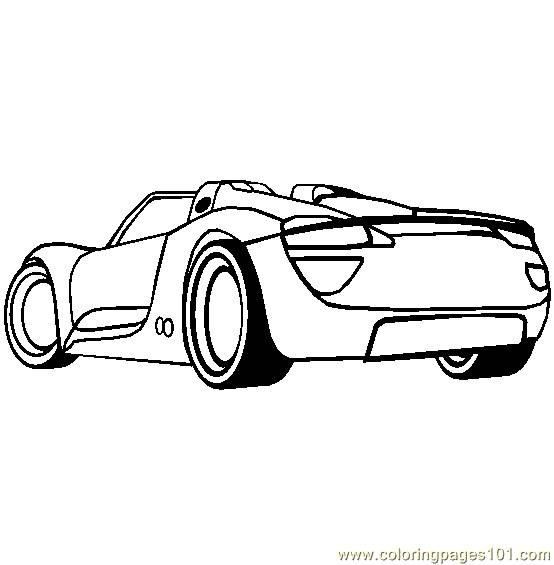 Free coloring and drawings Porsche sport stylized Coloring page