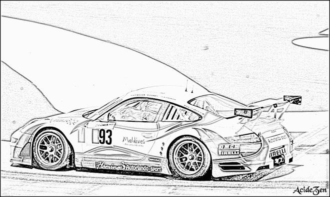 Free coloring and drawings Realistic sports car Coloring page