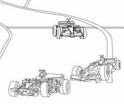 Coloring pages An Illustration of Cars in Race