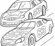 Free coloring and drawings Automobiles in the race Coloring page