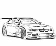 Free coloring and drawings BMW racing car Coloring page