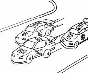 Free coloring and drawings Car racing landscape Coloring page