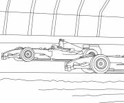 Coloring pages Cars during the race