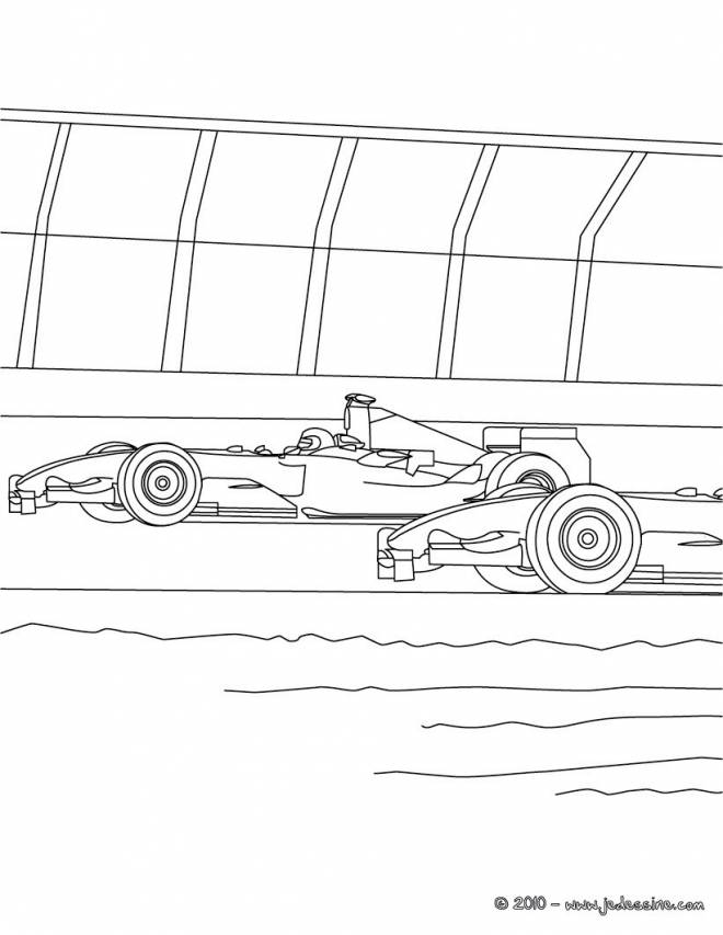 Free coloring and drawings Cars during the race Coloring page