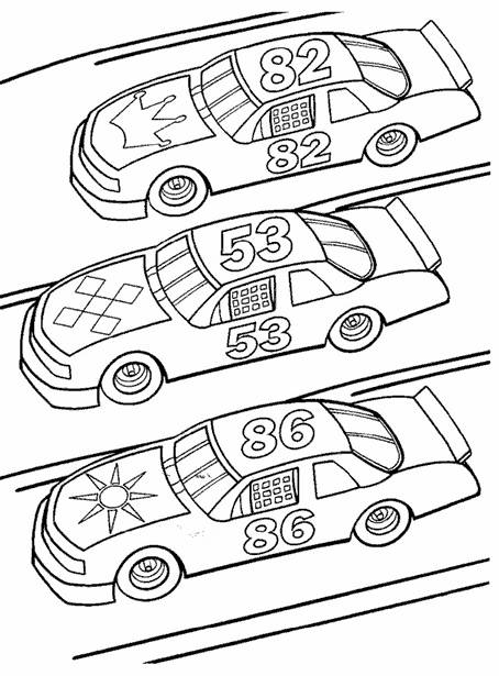 Free coloring and drawings Cars Prepare for Race Coloring page