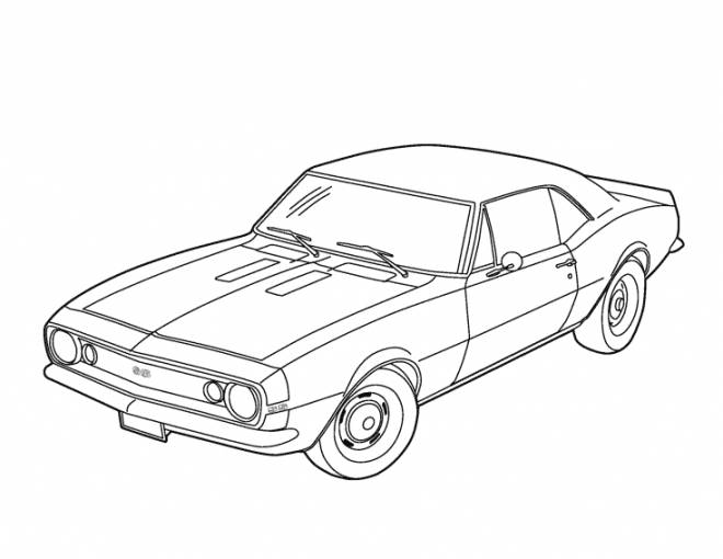Free coloring and drawings Chevrolet car Coloring page