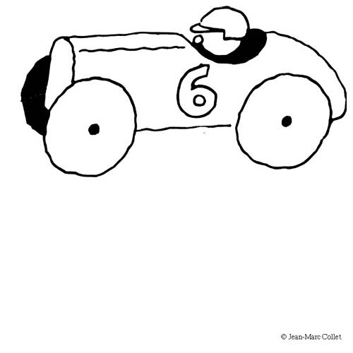Free coloring and drawings Children's Race Car Coloring page