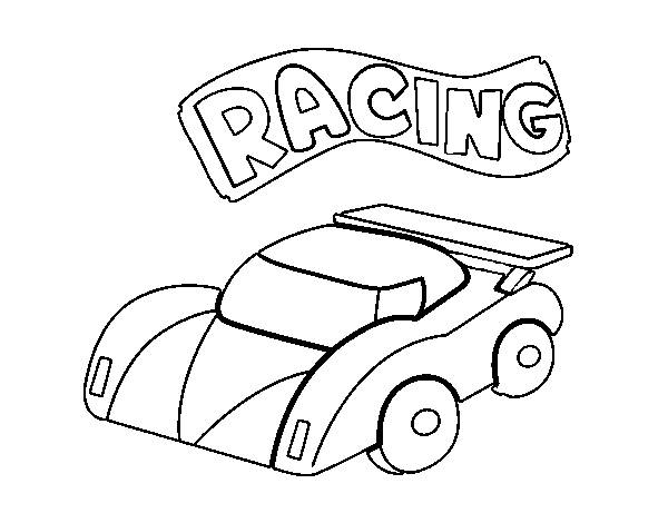 Free coloring and drawings Children's Small Race Car Coloring page
