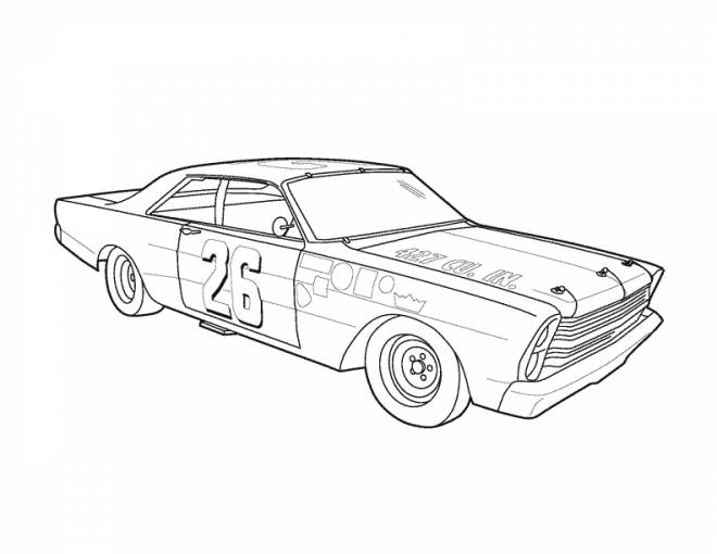 Free coloring and drawings Classic racing car Coloring page