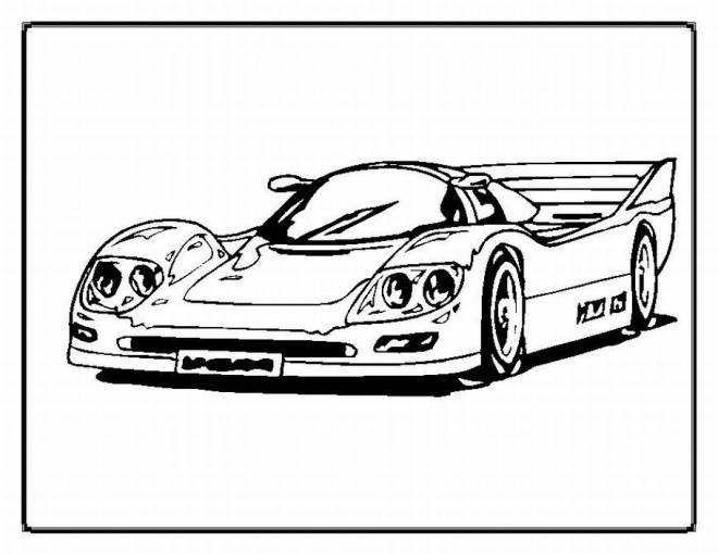 Free coloring and drawings Color Race Car Coloring page