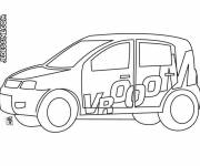 Coloring pages Easy Rally Car