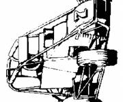 Coloring pages Extreme Sports Race Car