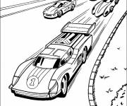 Free coloring and drawings Fast Car Race Coloring page