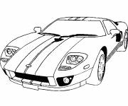 Free coloring and drawings Ford Sports Car online Coloring page