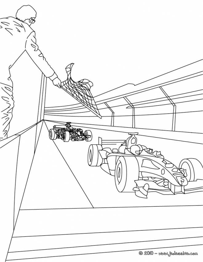 Free coloring and drawings Formula 1 racing landscape Coloring page