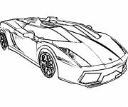 Free coloring and drawings Luxury car in color Coloring page
