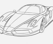 Coloring pages Luxury Race Car