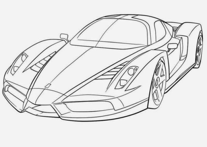 Free coloring and drawings Luxury Race Car Coloring page