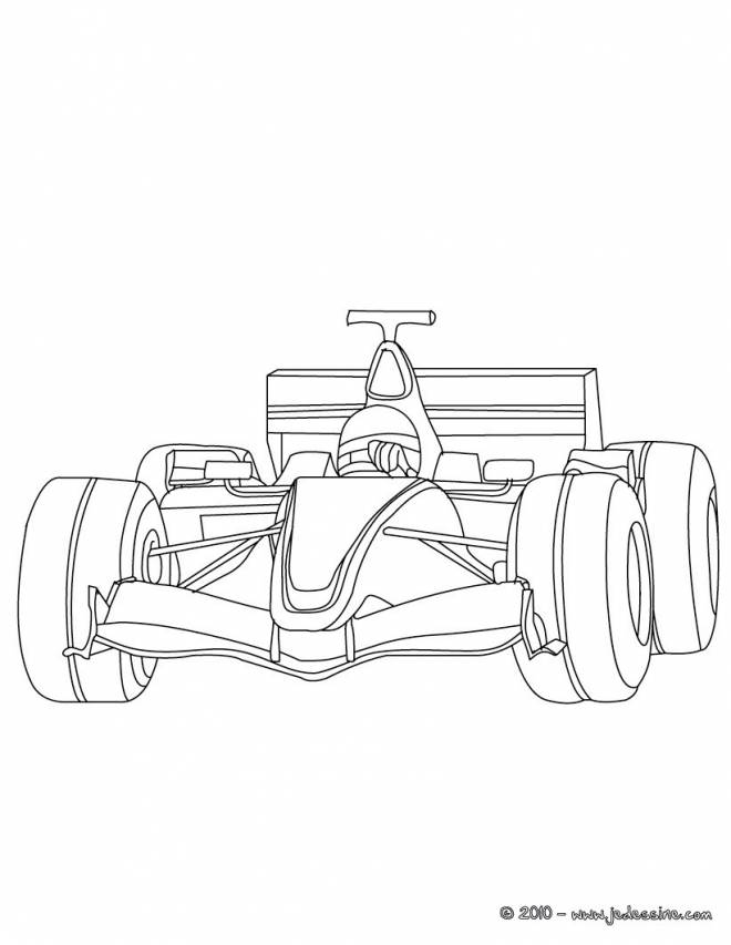 Free coloring and drawings Maternal Race Car Coloring page