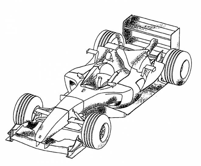 Free coloring and drawings McLaren Formula 1 car Coloring page