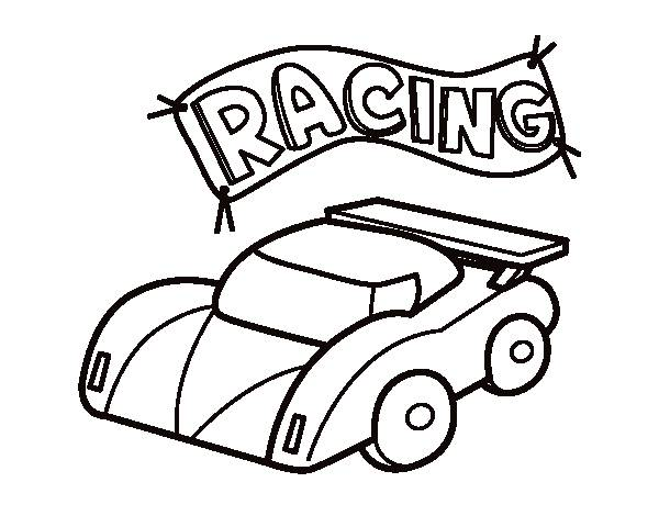 Free coloring and drawings Miniature Race Car Coloring page