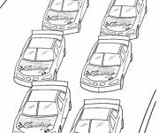 Coloring pages Nascar Race Cars at the start