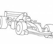 Free coloring and drawings Race car Indy 500 Coloring page