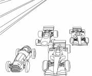 Coloring pages Race Cars of different types