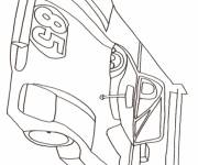 Coloring pages racing car in pencil