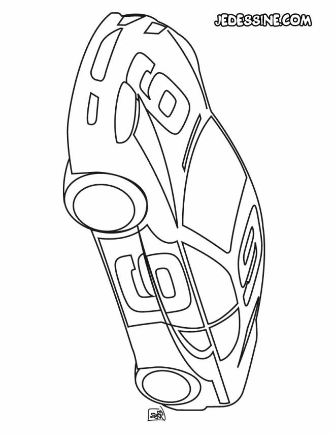 Free coloring and drawings Rally car Coloring page