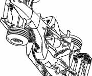 Coloring pages Realistic Race Car