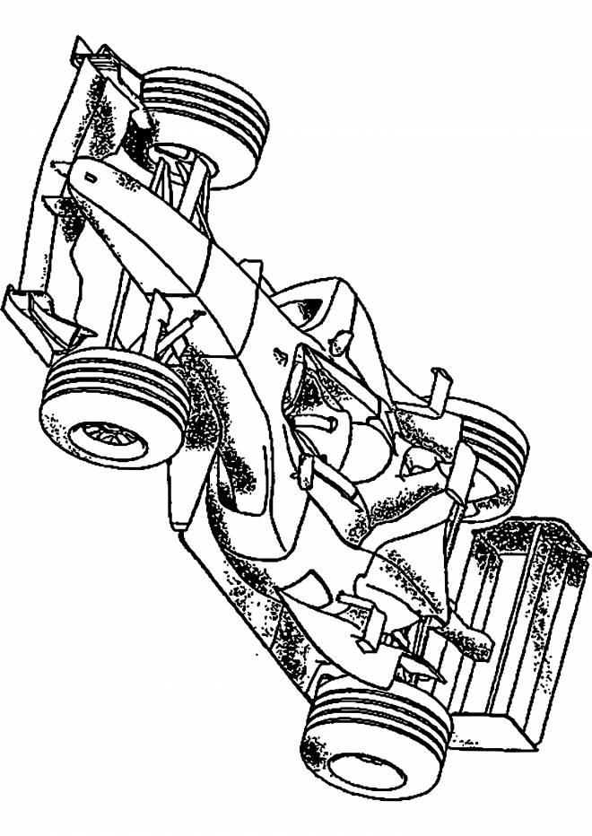Free coloring and drawings Realistic Race Car Coloring page