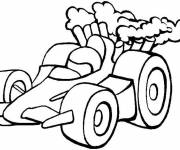 Coloring pages Small racing car